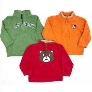 Lot of 3 Baby Boy 18-24M Fleece Pullover Sweater